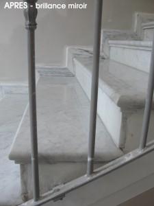 Restauration escalier en marbre - Après