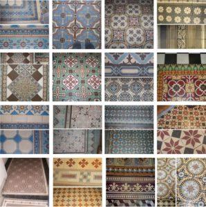mosaïque de carreaux ciment restaurés par Solag