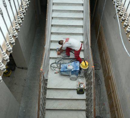 Restauration escalier en marbre - SOLAG