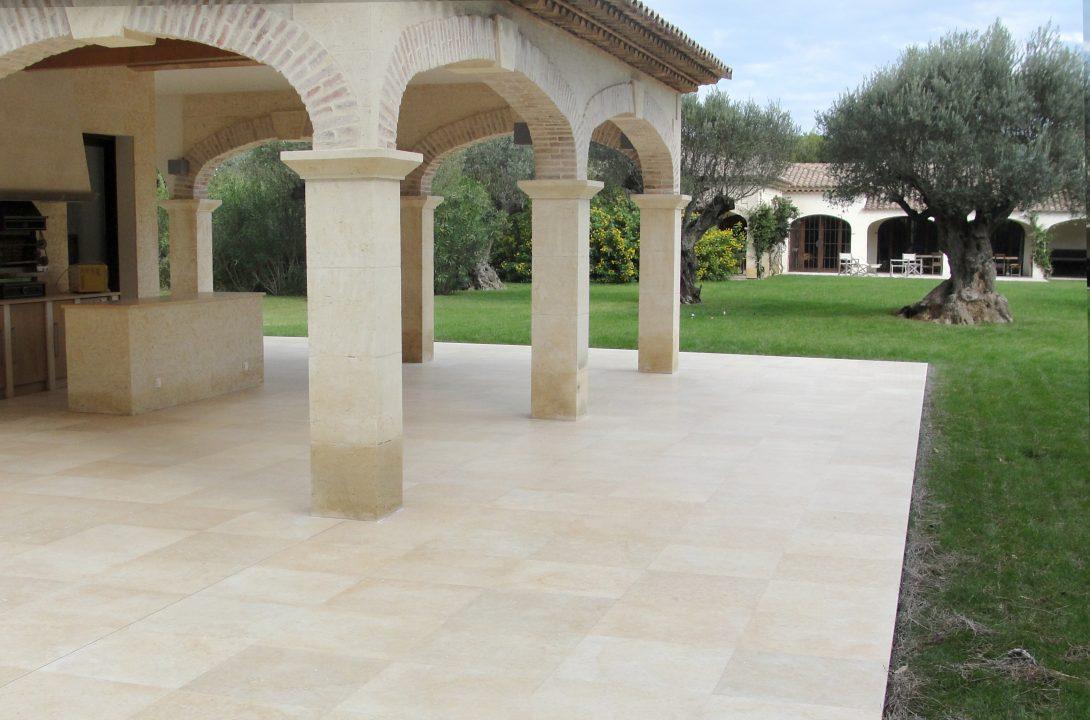 restauration terrasse en marbre par solag