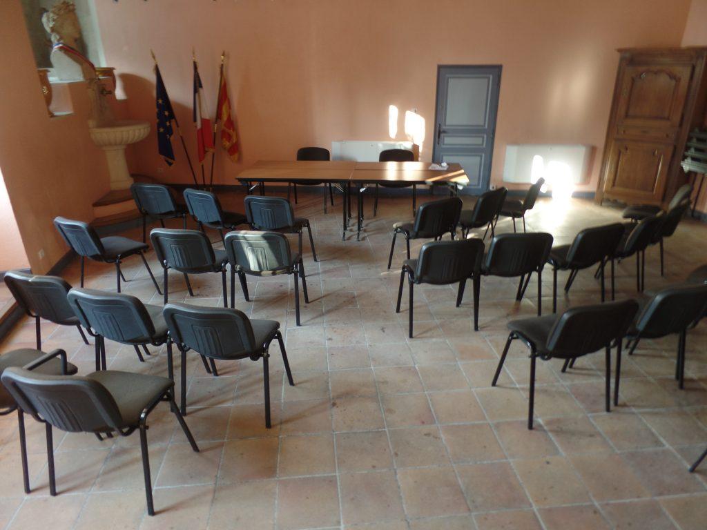 salle du Conseil Municipal : avant