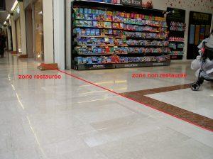 restauration marbre avant/après