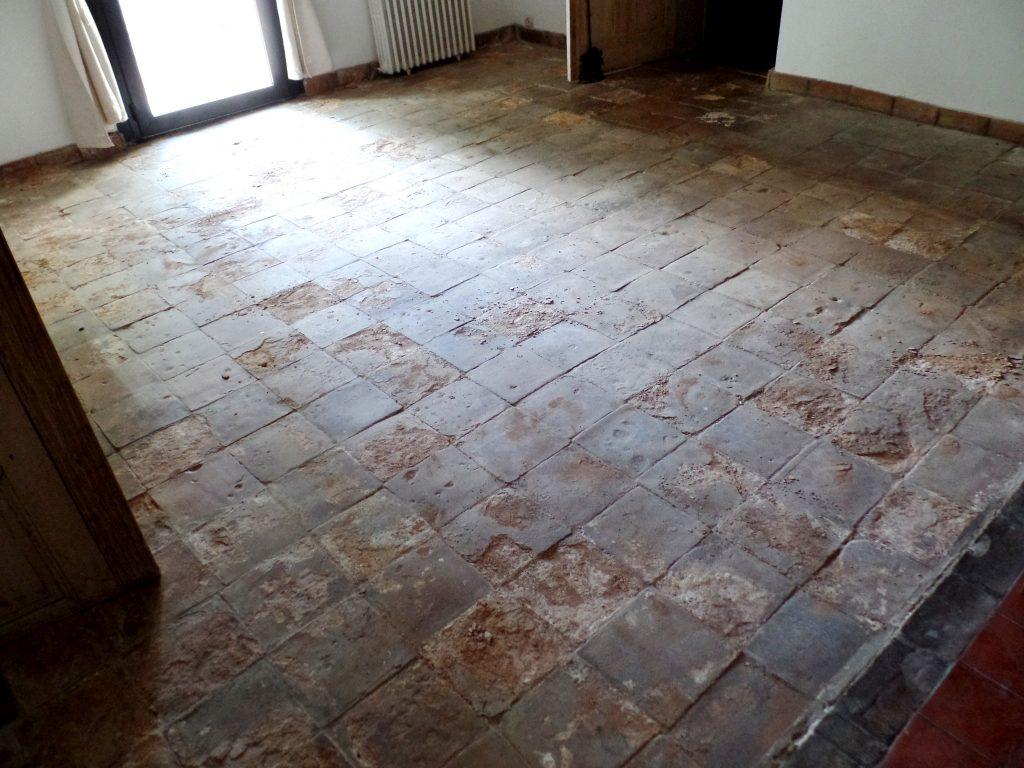 restauration terre cuite ancienne par SOLAG - avant