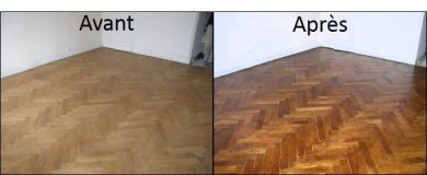 Exemple de restauration de parquet - SOLAG