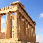 Parthénon, édifice de l'époque antique en marbre