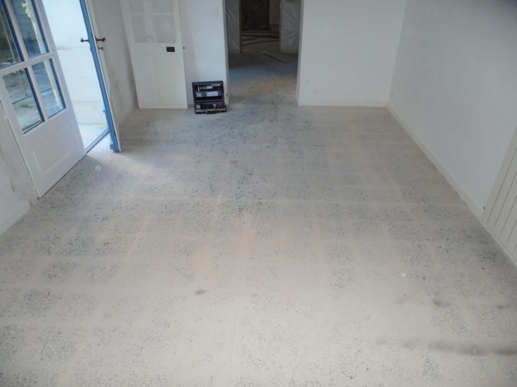 Avant la rénovation du granito de la chambre